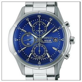 【レビューを書いて10年保証】WIRED ワイアード SEIKO セイコー 腕時計 AGAD058 メンズ NEW STANDARD ニュースタンダード ソーラークロノグラフ