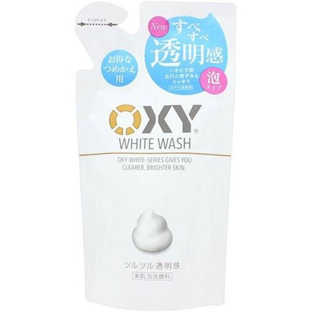 【※】 ロート製薬 オキシー ホワイトウォッシュ 泡タイプ つめかえ用(130mL) 洗顔料 洗顔 泡洗顔料  詰め替え OXY
