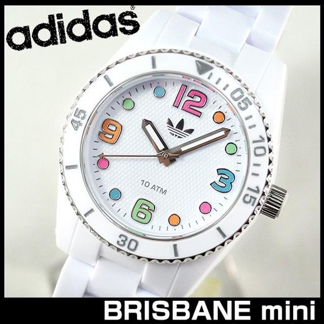 021703e9d4 腕時計 アディダス adidas 腕時計 ADH2941 BRISBANE mini 白 ホワイト ブリスベン 腕時計 防水 レディース キッズ
