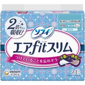 【y】 ソフィ エアフィットスリム 21cm 多い昼〜ふつうの日 羽つき(24枚入)