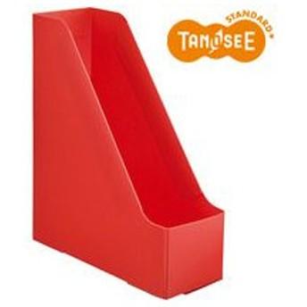 TANOSEE PP製ボックスファイル(組み立て式) A4 タテ レッド 1個