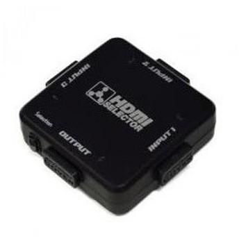 3入力1出力HDMIセレクタ- HDS-31C/BK ミヨシ AVセレクター