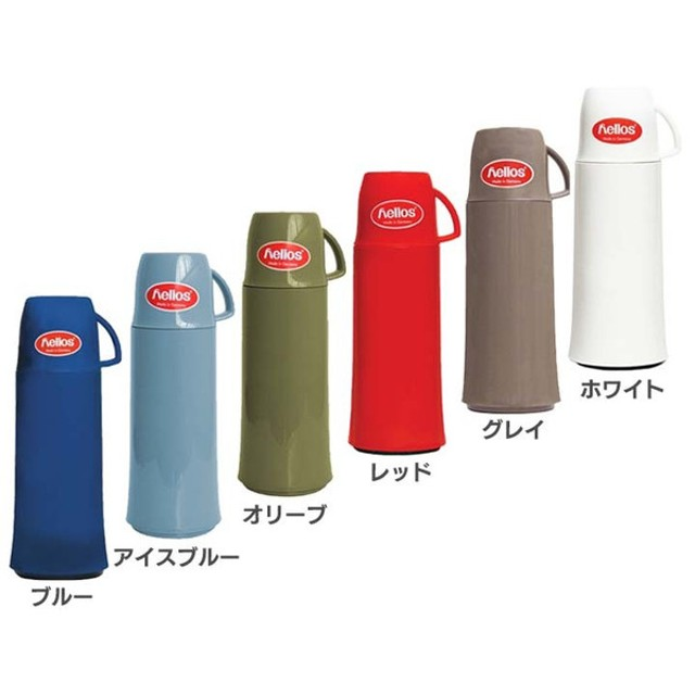 水筒 マグボトル ヘリオス helios 魔法瓶 500ml  ガラス製 水筒 コップ付き エレガンス 5609007BL