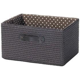 収納ボックス カラーボックス用 水玉柄 ダークブラウン ( 収納かご インナーケース )