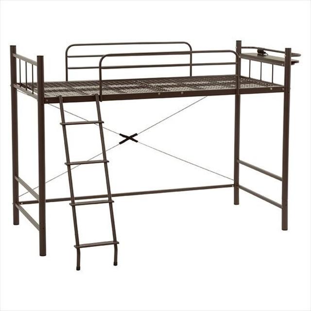 ロフトベッド 階段 ロフトベット パイプベッド システムベッド ロフトベッド シングルベッド 子供 子供部屋 ロフトベッド KH-3023DBR 代引不可