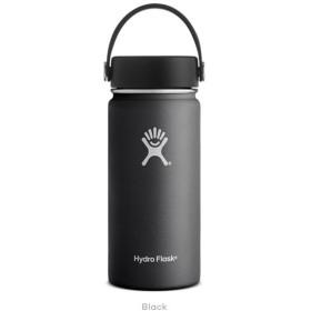 ハイドロフラスク Hydro Flask 16 oz Wide Mouth Black 16オンス 473ml 広口 ワイドマウス ボトル 水筒