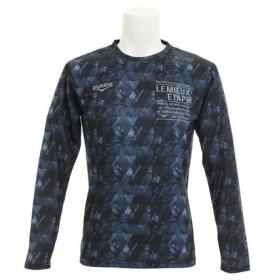 デュアリグ(DUARIG) ドライプラスUV 総柄ロングスリーブTシャツ 863D7HD3001 NVY (Men's)