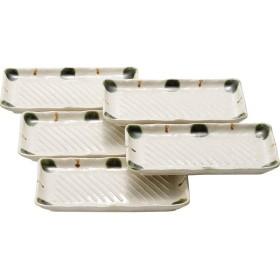 瀬戸焼 渕織部十草 焼物皿5枚揃 和陶器 和陶皿 焼き物皿セット 15012 代引不可