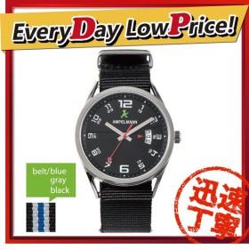 お取り寄せ ASC-4977-05 AMPELMANN アンペルマン クォーツ ラウンド 黒 腕時計