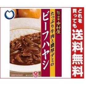 送料無料 中村屋 新宿中村屋 ビーフハヤシ たっぷり牛肉と濃厚デミグラス 200g×5箱入