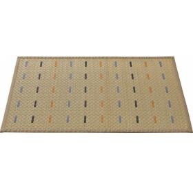 い草マット ステンシル 90×60 cm ベージュ 室内繊維 マット カ-ペット い草製マット 5052 代引不可