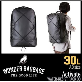 追加最大+34% 2/25まで|ワンダーバゲージ アクティベート リュック メンズ レディース 防水 撥水 大容量 30L WONDER BAGGAGE wb-v-006