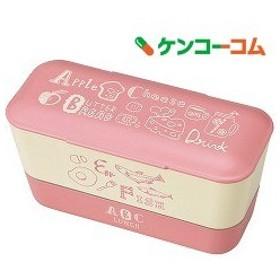 ABC レディースランチ2段 ピンク T-66433 ( 1コ入 )