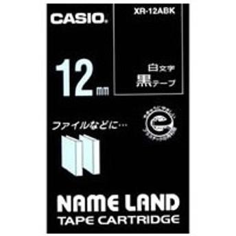 カシオ/ネームランド 12mm 黒/白文字/XR-12ABK