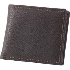 チェルベ ダブルステッチ 二つ折財布 ブラウン 装身具 財布 札入れ S-CBM163006BRN 代引不可