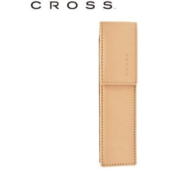 CROSS デスクトップコレクション クラシックセンチュリーレザー ダブルペンケース マグネティッククロージャー付き サンド