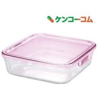 イワキ(iwaki) パック&レンジ ピンク 角型 1.2L K3248N-P ( 1コ入 )/ イワキ(iwaki)