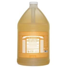 【正規輸入品】ドクターブロナー マジックソープ ガロン シトラスオレンジ (オールインワンソープ) 3776ml