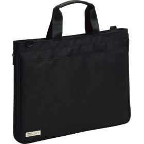 キャリングバッグ ベルトセット ブラック 文具 情報文具 文具収納用品 LS116 代引不可