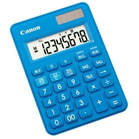 お取り寄せ キヤノン 電卓 LS-80TU-BLSOB ミニミニ卓上タイプ ブルー 8桁