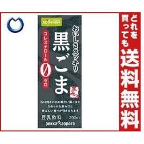 【送料無料】ソヤファーム おいしさスッキリ 黒ごま豆乳飲料 200ml紙パック×24本入