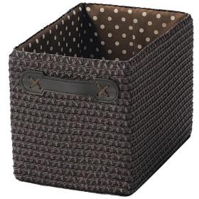 収納ボックス カラーボックス用 ハーフ 水玉柄 ダークブラウン ( 収納かご インナーケース )