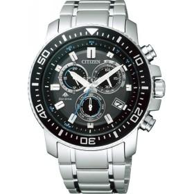 シチズン プロマスター メンズ電波腕時計 ブラック/ブルー プロマスター 装身具 紳士装身品 紳士腕時計 PMP56-3052 代引不可