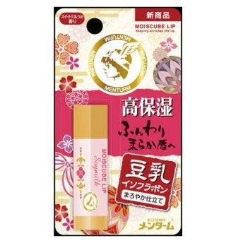 近江兄弟社 メンタームモイスキューブリップソイミルク保湿用リップクリーム