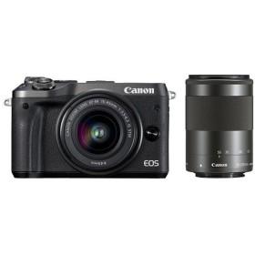 《新品》 Canon (キヤノン) EOS M6 ダブルズームキット ブラック