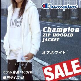 レディース チャンピオン Champion ZIP HOODED ジャケット フリース ボア モコモコ