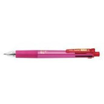 ゼブラ スラリマルチ 0.5mm 軸色:ピンク ボールペン4色+シャープ B4SAS11-P