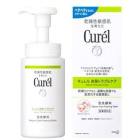 花王 乾燥性敏感肌を考えた キュレル 皮脂トラブルケア 泡洗顔料 (150mL) curel 医薬部外品