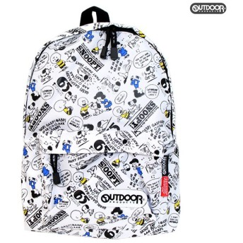 OUTDOOR×スヌーピー<SNOOPY> デイパック<リュックサック> 白 子供用 65周年記念柄 sy703wh-7