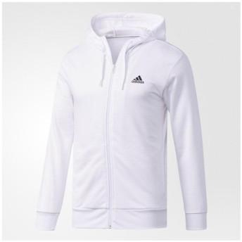 アディダス(adidas) メンズ ESSENTIALS ライトスウェットフルジップパーカー 裏毛 DJP52-BR1108 (Men's)