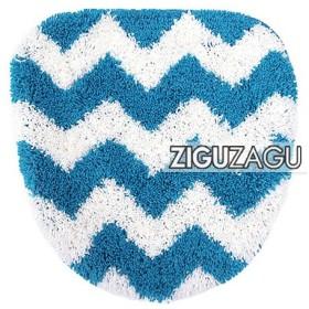 トイレフタカバー ZIGUZAGU 洗浄便座用 トイレカバー ブルー 代引不可