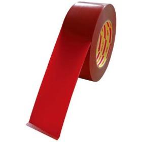 パイオラン ラインテープ 50mm幅 赤 (1巻) 品番:L-10-RE-50MM