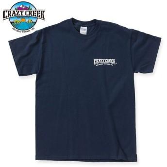クレイジークリーク CRAZY CREEK ロゴTシャツ ネイビー/ホワイト