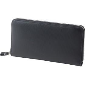 アッシュエル ラウンドファスナー長財布 ブラック 装身具 財布 札束入れ S-HLE14354BK 代引不可