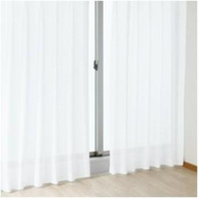 ユニベール レースカーテン クリア WH/100x133cm 2枚組 ホワイト/幅100×高133cm