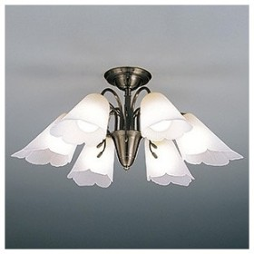 山田照明 LEDランプ交換型シャンデリア 〜8畳用 非調光 LED電球7.8W×6 電球色 E26口金 ランプ付 CD-4328-L