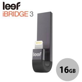iPhone USBメモリ Leef リーフ iBridge3 アイブリッジ3 16GB USB - Lightningフラッシュメモリ ブラック LIB300KK016E1 ネコポス送料無料