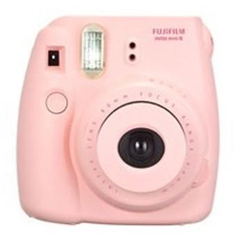 instax mini 8 チェキ 純正ハンドストラップ付き [ピンク] 【インスタントカメラ】