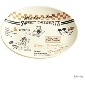 ミッキーマウス メラミン皿 <ランチプレート> 19cm Mickey's cafe柄 MPL19  [M便 1/1]