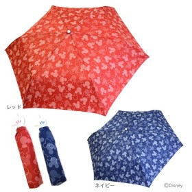 ミッキーマウス 折りたたみ傘 <雨傘・手開き式> 55cm 2カラー 4662-mrc