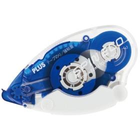 プラス(PLUS) テープのり スピンエコ 本体 8.4mm幅 ブルー TG-610BC 37-585