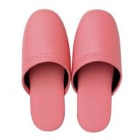 オーミケンシ レザー調スリッパ(子供用) ピンク ●外寸法/約20cm 10800041