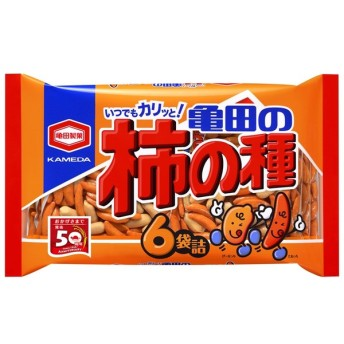 ■亀田 フレッシュパック柿の種 6袋入り