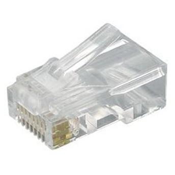 ジェフコム モジュラープラグシールド付 1ピースタイプ 単線専用 入数:19個/パック入 MJS-808P
