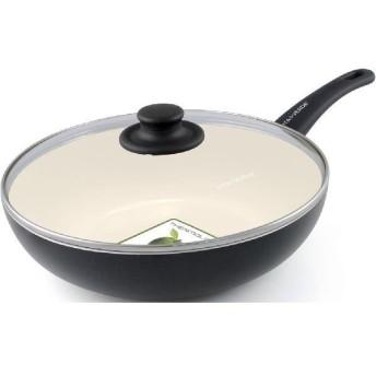 ビタベルデソフトグリップマグニート ウォック 28cm+フタ 28cm ブラック CW001834-002 フライパン キッチン 調理 調理用品