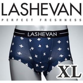 ラシュバン LASHEVAN プレミアム アンダーウエア ボクサーパンツ パンツ LS0117-CRB クロスブルー/XL